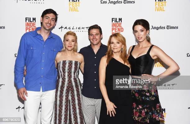 Actors Nicholas Braun Madelyn Deutch Zach Roerig Lea Thompson and Melissa Bolona attend the 2017 Los Angeles Film Festival premiere of 'The Year Of...