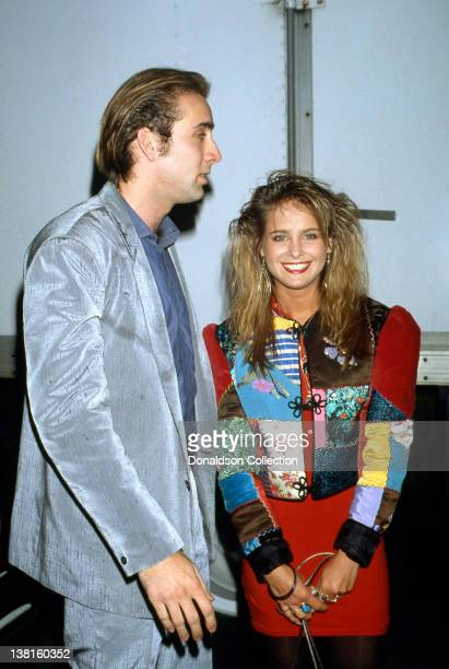 Actors Nicholas Cage And Ami Dolenz Attend An Event In March 1988 In Los Angeles California