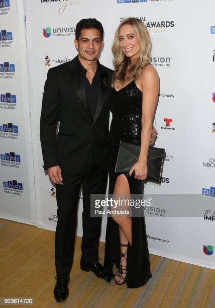 Actors Nicholas Gonzalez and Kelsey Crane attend the National Hispanic Media Coalition's 21st annual Impact Awards at the Beverly Wilshire Four...