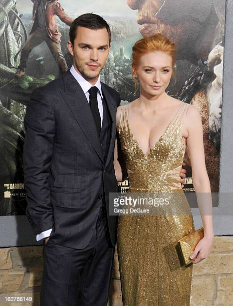 Actors Nicholas Hoult and Eleanor Tomlinson arrive at the Los Angeles premiere of 'Jack The Giant Slayer' at TCL Chinese Theatre on February 26 2013...