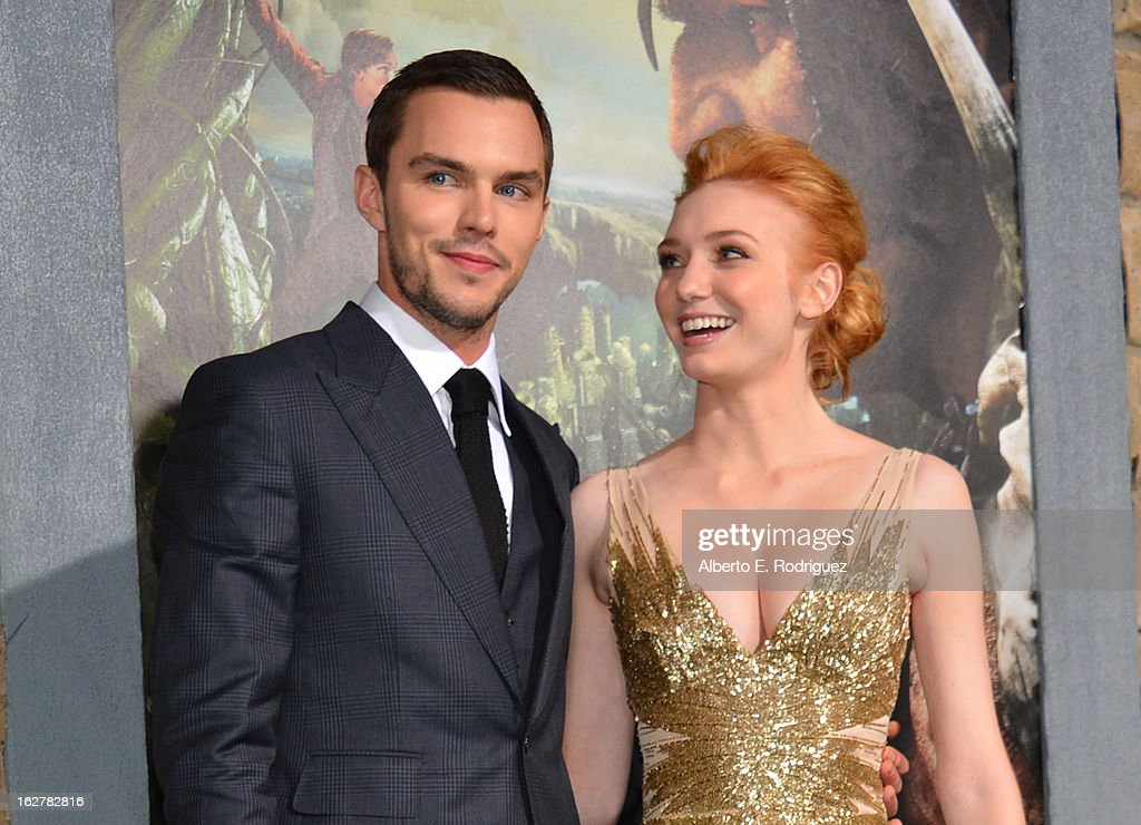 Actors Nicholas Hoult (L) and Eleanor Tomlinson attend the premiere of New Line Cinema's 'Jack The Giant Slayer' at TCL Chinese Theatre on February 26, 2013 in Hollywood, California.