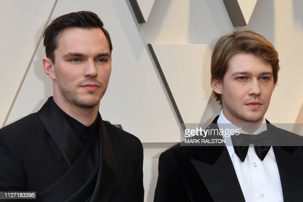 Actors Nicholas Hoult and Joe Alwyn arrive for the 91st Annual Academy Awards at the Dolby Theatre in Hollywood California on February 24 2019