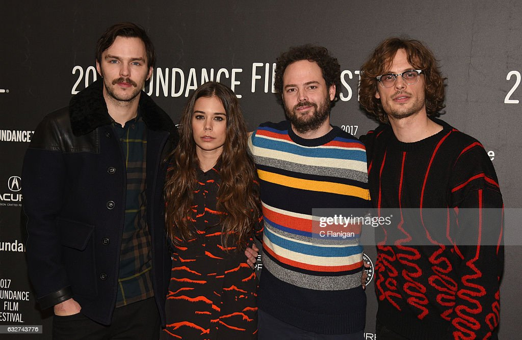 Actors Nicholas Hoult and Laia Costa, director Drake Doremus, and actor Matthew Gray Gubler attend the 'Newness' Premiere on day 7 of the 2017 Sundance Film Festival at Eccles Center Theatre on January 25, 2017 in Park City, Utah.