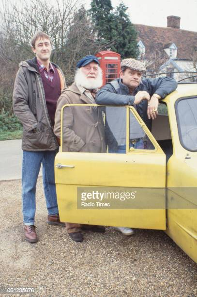 Actors Nicholas Lyndhurst Buster Merryfield and David Jason pictured during the filming of episode 'He Ain't Heavy He's My Uncle' of the BBC...