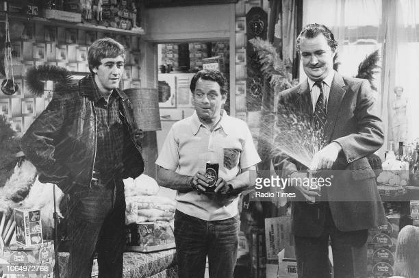 Actors Nicholas Lyndhurst David Jason and Jim Broadbent in a scene from episode 'May the Force Be with You' of the television sitcom 'Only Fools and...