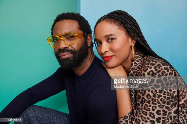 Actors Nicholas Pinnock and Joy Bryant are photographed for Entertainment Weekly Magazine on February 27, 2020 at Savannah College of Art and Design...