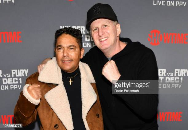 Actors Nicholas Turturro and Michael Rapaport attend the Heavyweight Championship of The World 'Wilder vs Fury' Premiere at Staples Center on...