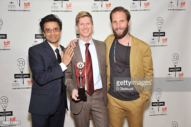 Actors Nick Choksi Lucas Steele and Blake DeLong attend the 29th Annual Lucille Lortel Awards at NYU Skirball Center on May 4 2014 in New York City