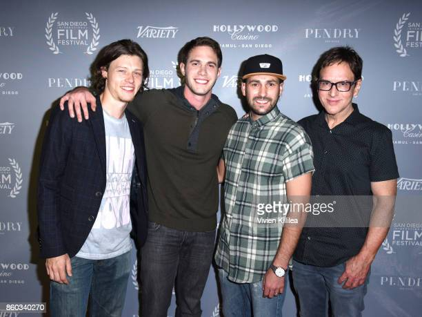 Actors Nick Eversman and Blake Jenner and producers Mike Jenner and Robert Ulrich attend the San Diego International Film Festival 2017 on October 6...