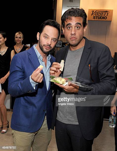 Actors Nick Kroll and Bobby Cannavale attend the Variety Studio presented by Moroccanoil at Holt Renfrew during the 2014 Toronto International Film...