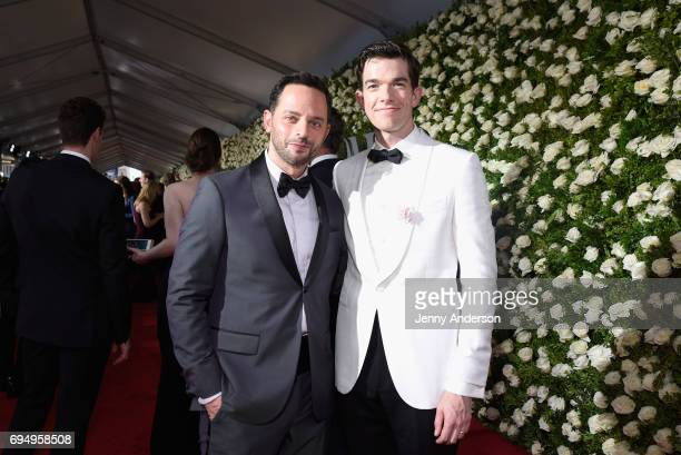 Actors Nick Kroll and John Mulaney attend the 2017 Tony Awards at Radio City Music Hall on June 11 2017 in New York City