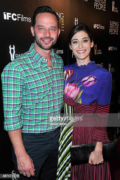 Actors Nick Kroll and Lizzy Caplan attend the Premiere of IFC Films' 'Sleeping With Other People' at ArcLight Cinemas on September 9 2015 in...