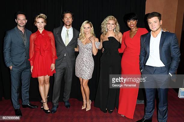 Actors Nick Kroll Scarlett Johansson Matthew McConaughey Reese Witherspoon singers Tori Kelly Jennifer Hudson and actor Taron Egerton attend the...