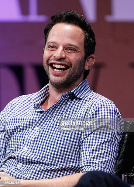 """Actors Nick Kroll speaks onstage during """"How to Earn Thousands Making Comedy"""" at the Vanity Fair New Establishment Summit at Yerba Buena Center for..."""