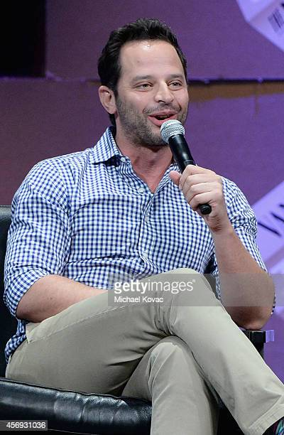 Actors Nick Kroll speaks onstage during How to Earn Thousands Making Comedy at the Vanity Fair New Establishment Summit at Yerba Buena Center for the...