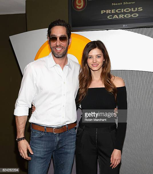 Actors Nick Loeb and Jenna B Kelly attend Precious Cargo New York Screening at AMC Empire 25 theater on April 25 2016 in New York City