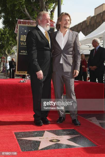 Actors Nick Nolte and Brawley Nolte attend a ceremony honoring Actor Nick Nolte with Star On The Hollywood Walk Of Fame on November 20 2017 in...