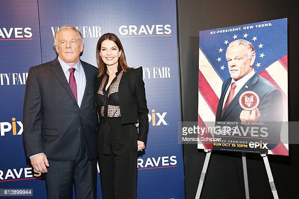 Actors Nick Nolte and Sela Ward attend the EPIX Graves NY premiere on October 5 2016 in New York City