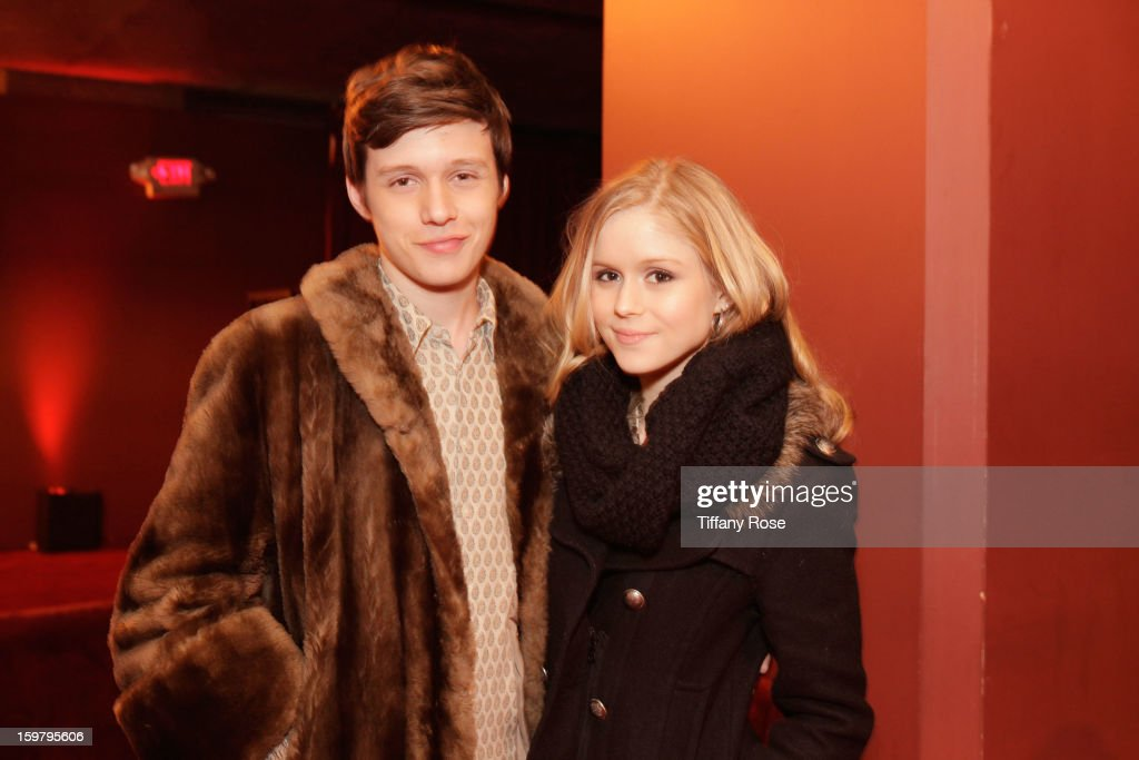 Actors Nick Robinson (L) and Erin Moriarty attend Day 3 of Tea of a Kind at Village At The Lift 2013 on January 20, 2013 in Park City, Utah.