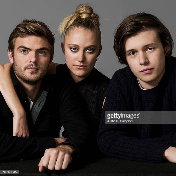 Actors Nick Robinson Maika Monroe Alex Roe of 'The 5th Wave' are photographed for Just Jared on January 21 2016 in Los Angeles California