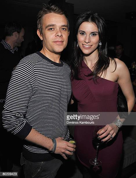 Actors Nick Stahl and Milena Govich attend the after party for Sleepwalking hosted by The Cinema Society and Dior Beauty at the SoHo Grand Screening...
