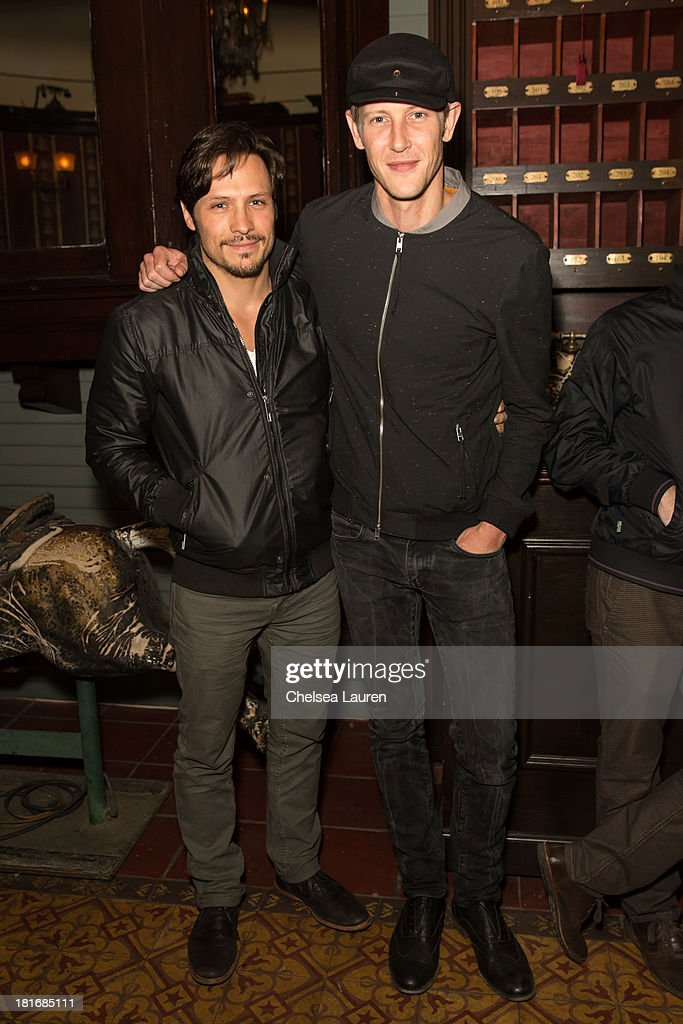 Actors Nick Wechsler (L) and Gabriel Mann attend the M83 Post-Show Soiree At No Vacancy on September 22, 2013 in Hollywood, California.