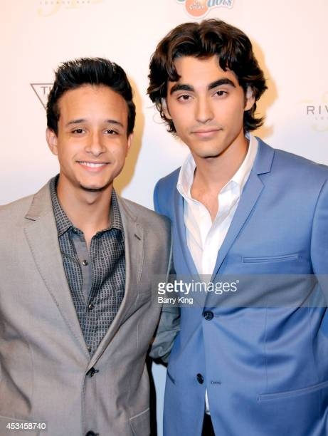 Actors Nickie Jon and Blake Michael arrive at Blake Michael's 18th Birthday on Riviera 31 on August 9 2014 in Beverly Hills California
