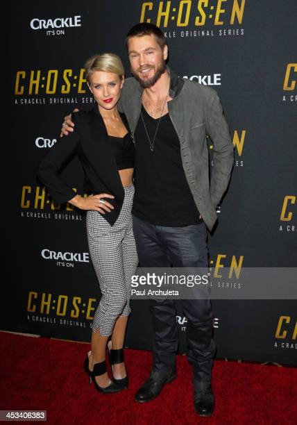 """Actors Nicky Whelan and Chad Michael Murray attend the season 2 screening of """"Chosen"""" at Pacific Theaters at the Grove on December 3, 2013 in Los..."""