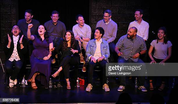 actors Nico Santos Lauren Ash America Ferrera Ben Feldman Colton Dunn and Nichole Bloom and executive producers David Bernad Ruben Fleischer Justin...