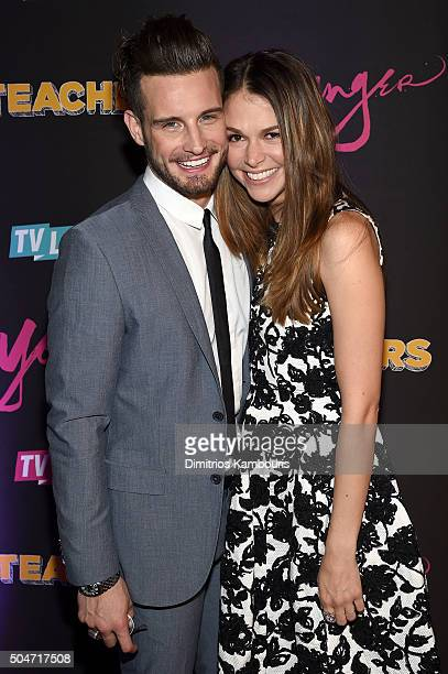 Actors Nico Tortorella and Sutton Foster attend the Younger Season 2 and Teachers Series Premiere at The NoMad Hotel on January 12 2016 in New York...