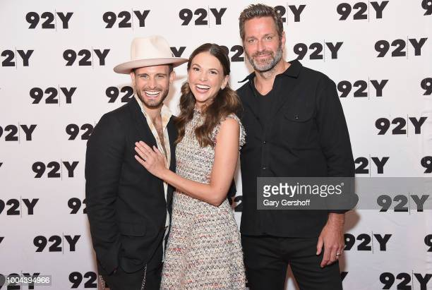 Actors Nico Tortorella Sutton Foster and Peter Hermann attend TV Land's Younger screening and cast conversation at Kaufman Concert Hall on July 23...