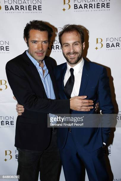 Actors Nicolas Bedos and Antoine Gouy attend 'Monsieur Madame Andelman' Premiere Hosted By Fondation Barriere at Cinema Elysee Biarritz on March 6...