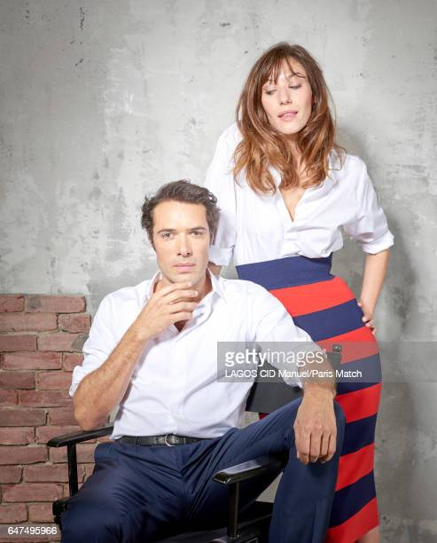 Actors Nicolas Bedos and Dora Tillier are photographed for Paris Match on February 1 2017 in Paris France