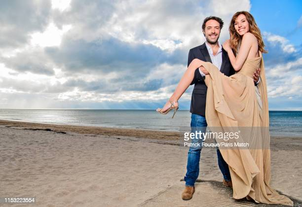 Actors Nicolas Bedos and Doria Tillier are photographed at the 33rd Cabourg Film Festival for Paris Match on June 14 2019 in Cabourg France
