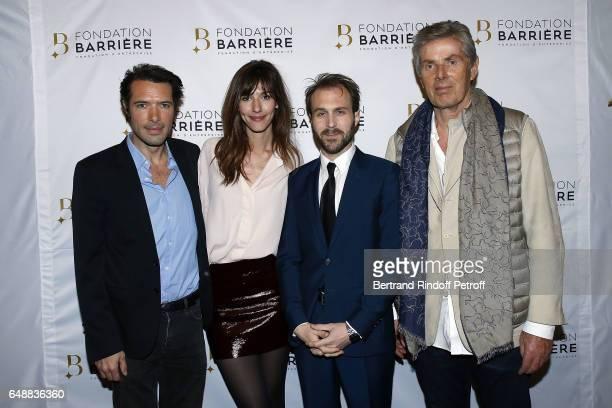 Actors Nicolas Bedos Doria Tillier Antoine Gouy and Dominique Desseigne attend 'Monsieur Madame Andelman' Premiere Hosted By Fondation Barriere at...