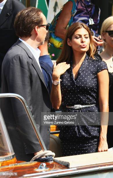 Actors Nicolas Cage and Eva Mendes are seen during the 66th Venice Film Festival on September 4 2009 in Venice Italy