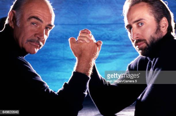 Actors Nicolas Cage and Sean Connery are photographed for Entertainment Weekly Magazine in 1996 in New York City CREDIT MUST READ Ken Regan/Camera 5...