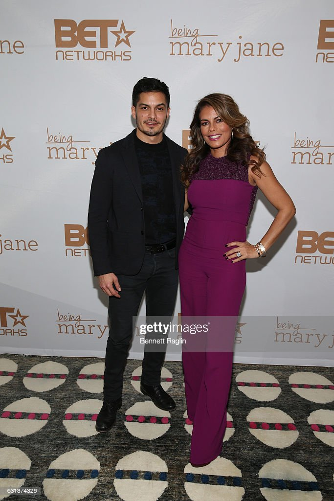 Actors Nicolas Gonzales and Lisa Vidal attend the Being Mary Jane premiere, screening, and party on January 9, 2017 in New York City.