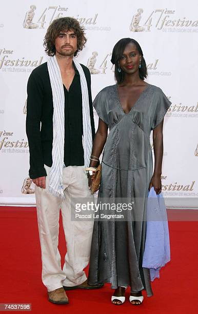 Actors Nicolas Herman and Fatou N'Diaye attend the opening night of the 2007 Monte Carlo Television Festival held at Grimaldi Forum on June 10 2007...