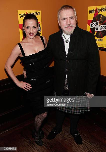 Actors Nicole Ansari and Brian Cox at the Opening Night Afterparty for the Broadway Play Rock Roll at Angus McIndoe on November 4 2007 in New York...