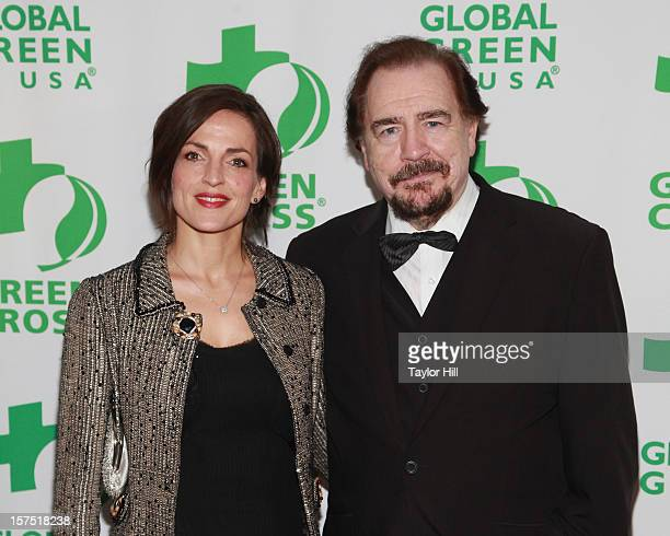 Actors Nicole Ansari and Brian Cox CBE attend the Global Green USA 13th Annual Sustainable Design Awards at Three Sixty on December 3 2012 in New...