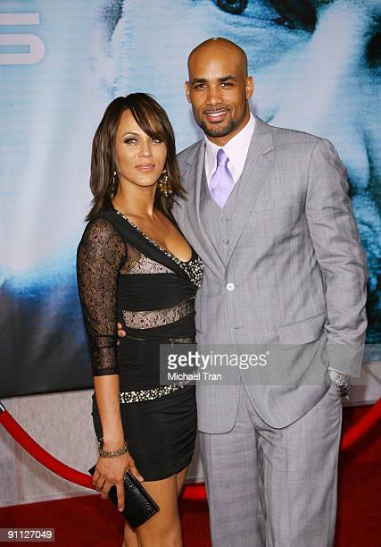 Actors Nicole Ari Parker and Boris Kodjoe arrive to the Los Angeles premiere of Surrogates held at the El Capitan Theatre on September 24 2009 in...