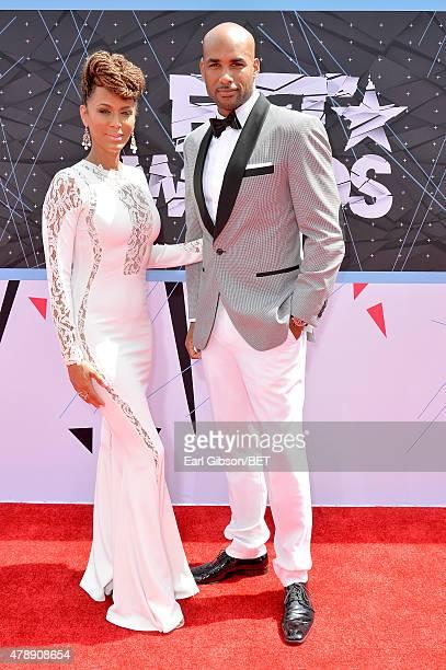 Actors Nicole Ari Parker and Boris Kodjoe attend the 2015 BET Awards at the Microsoft Theater on June 28 2015 in Los Angeles California