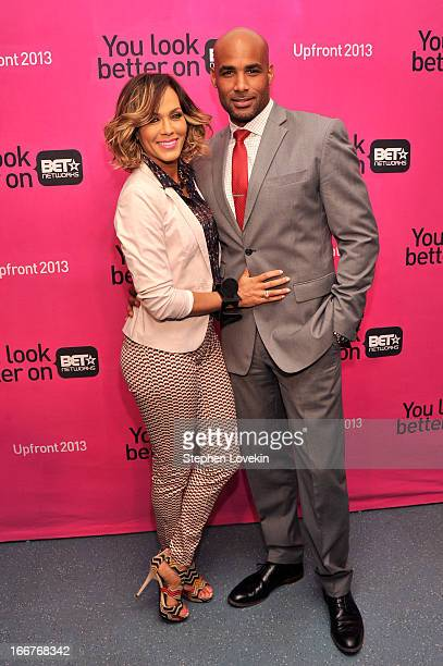 Actors Nicole Ari Parker and Boris Kodjoe attend the BET Networks 2013 New York Upfront on April 16 2013 in New York City