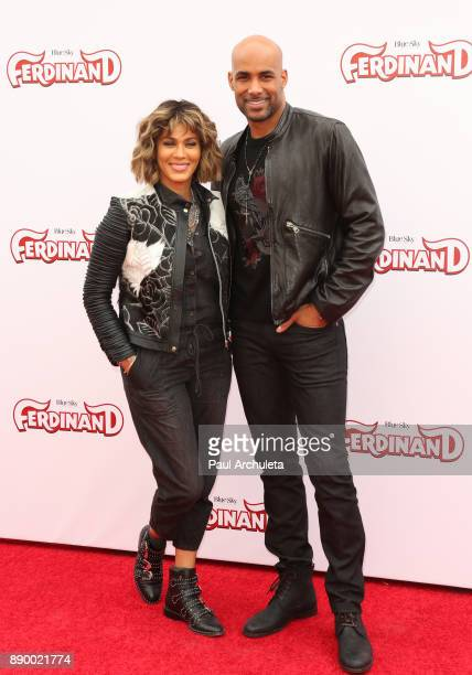 Actors Nicole Ari Parker and Boris Kodjoe attend the screening of Ferdinand at The Zanuck Theater at 20th Century Fox Lot on December 10 2017 in Los...