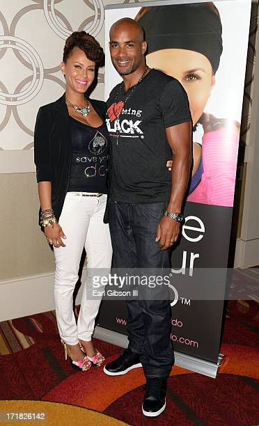 Actors Nicole Arie Parker and Boris Kodjoe attend the Centric Strive to Thrive Seminar with Nicole Arie Parker Boris Kodjoe and Jeff Johnson during...