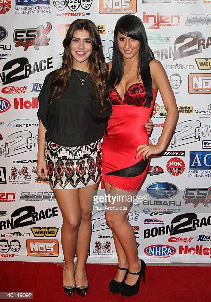 Actors Nicole Badaan and Lexy Panterra attend the Born 2 Race Los Angeles premiere at Grauman's Chinese Theatre on February 28 2012 in Hollywood...