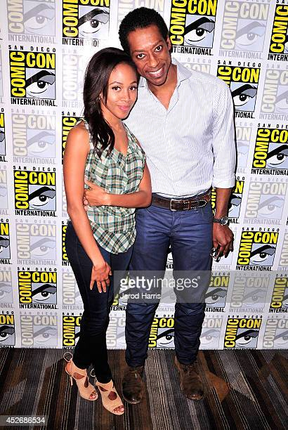Actors Nicole Beharie and Orlando Jones attend the Sleepy Hollow Press Line during ComicCon International 2014 at Hilton Bayfront on July 25 2014 in...
