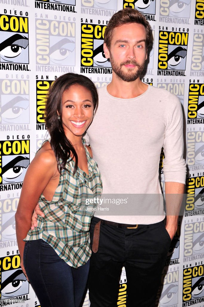 Actors Nicole Beharie (L) and Tom Mison attend the 'Sleepy Hollow' Press Line during Comic-Con International 2014 at Hilton Bayfront on July 25, 2014 in San Diego, California.
