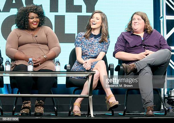 Actors Nicole Byer Jen D'Angelo and Jacob Wysocki speak onstage during the 'Loosely Exactly Nicole' panel discussion at the MTV portion of the 2016...